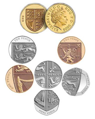 British coins make the Royal Shield