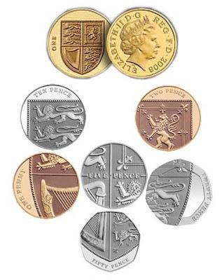 British coins make the Royal Shield