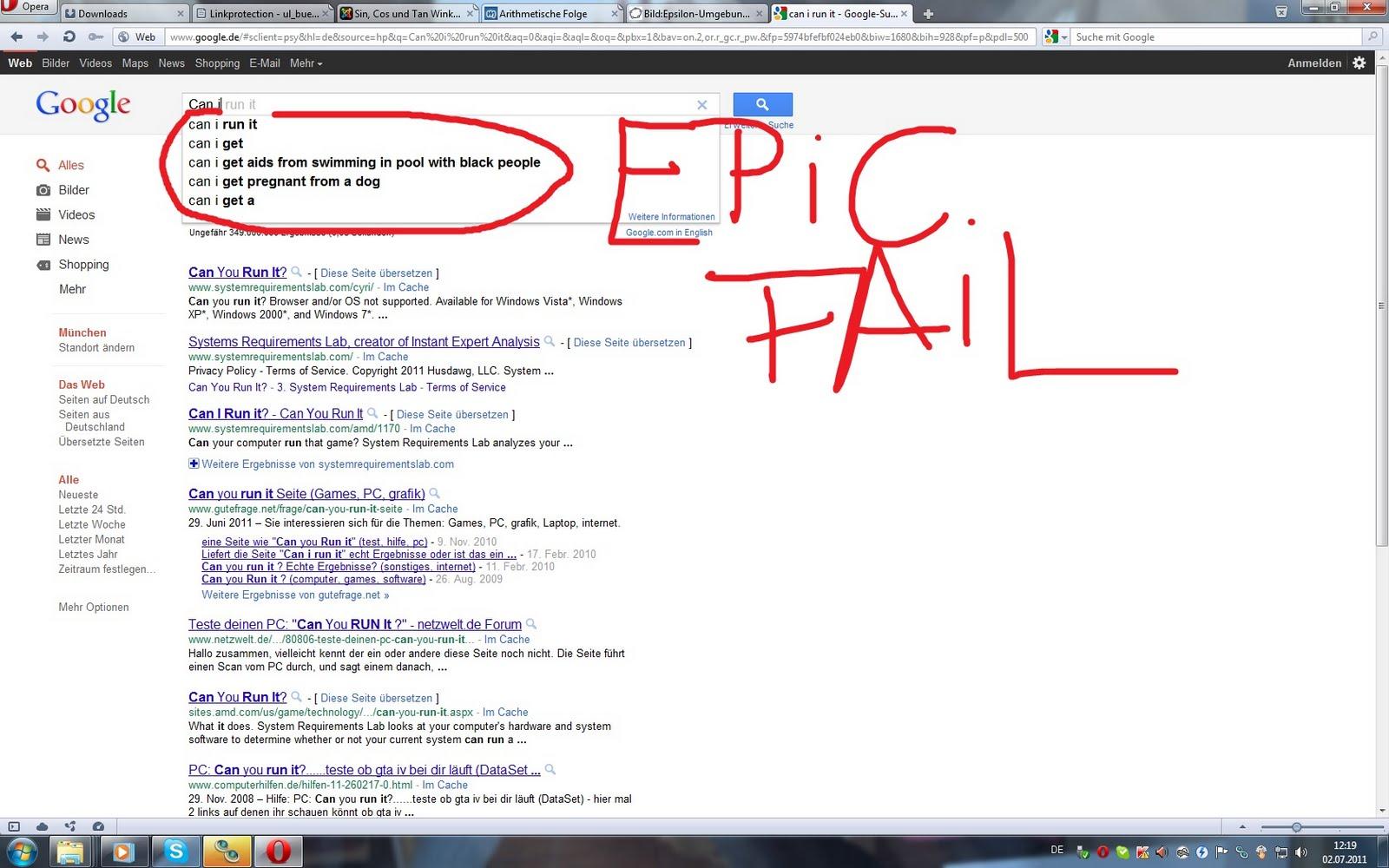 Blackies own Failblog: Google Fail die 2. omg! Can i