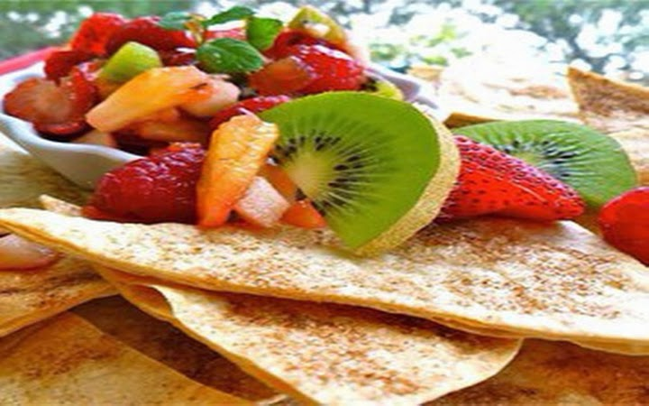 Annie's Fruit Salsa and Cinnamon Chips Recipe ~ delicious recipes