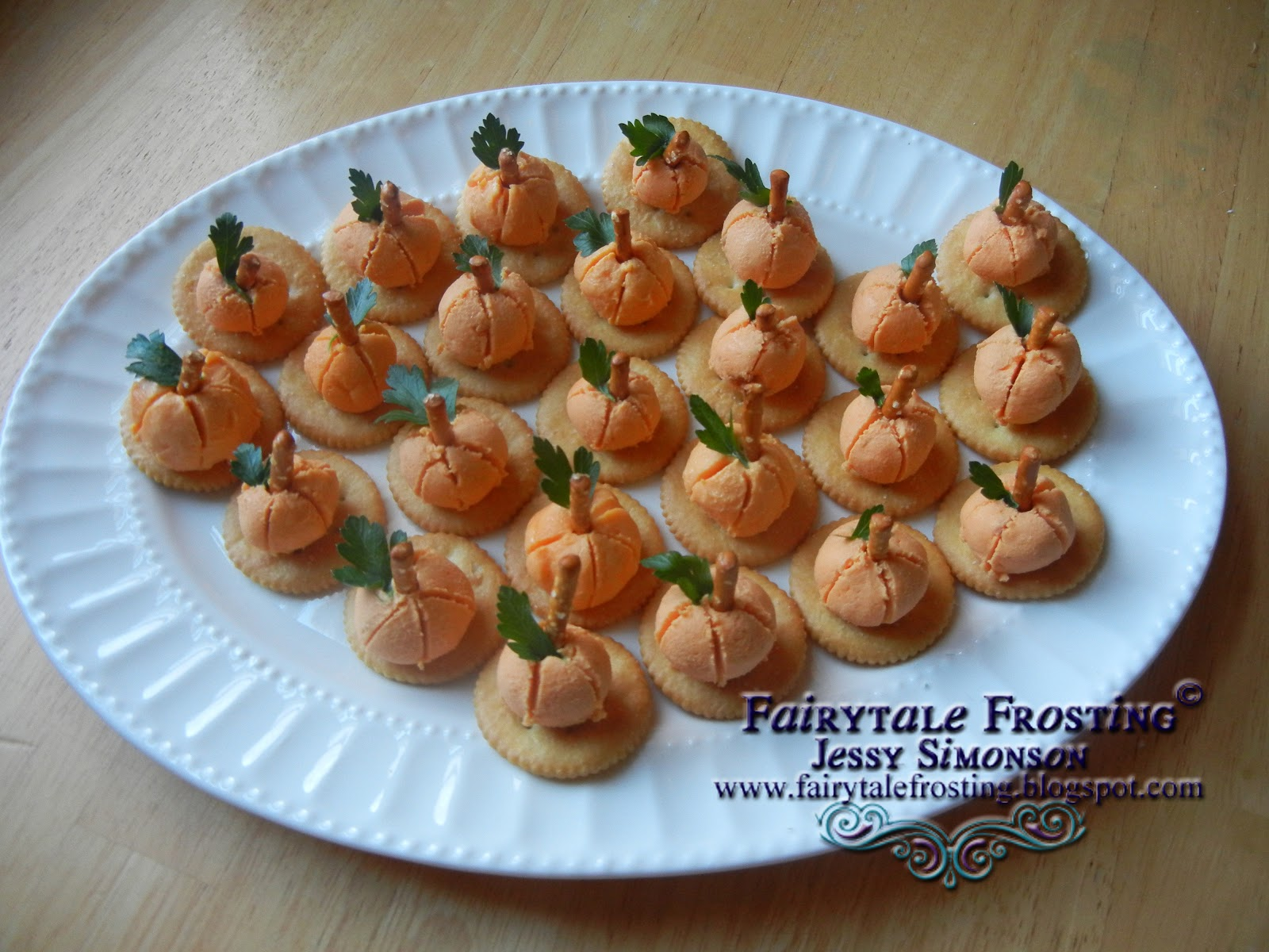 Fairytale Frosting Cheese Ball Pumpkins
