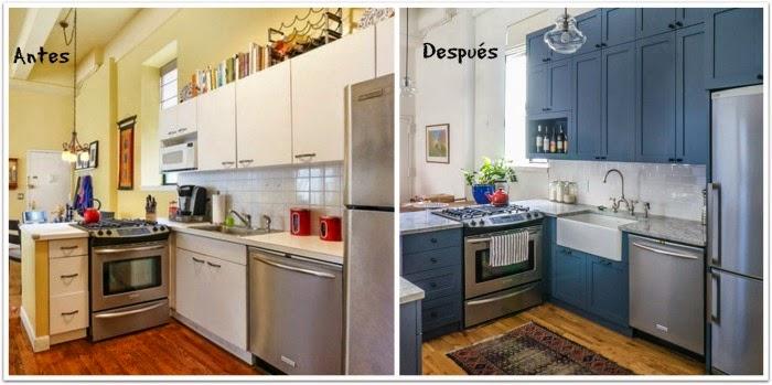 En casa de oly antes despu s proyecto de renovaci n de una cocina - Renovar cocina vieja ...