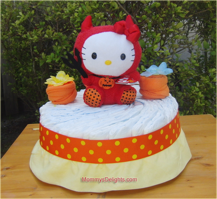hello kitty diaper cake the fall season has come again and its my favorite time of the year to celebrate making cute baby with halloween