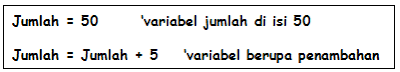contoh Variabel dan Konstanta (VB 6.0)