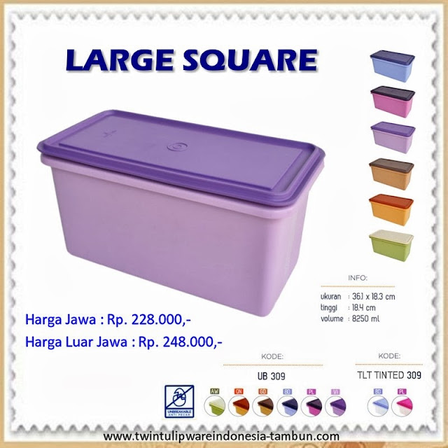 Large Square Tulipware 2013