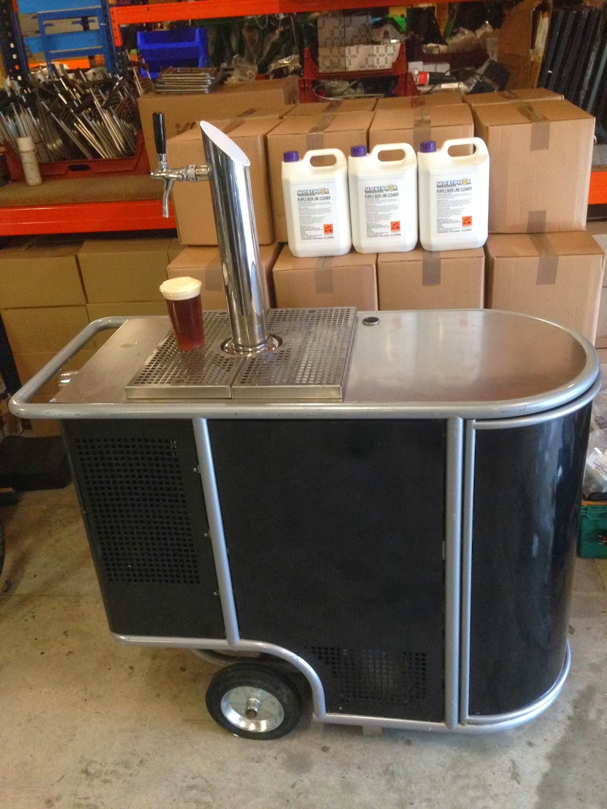 Beer tap on wheels