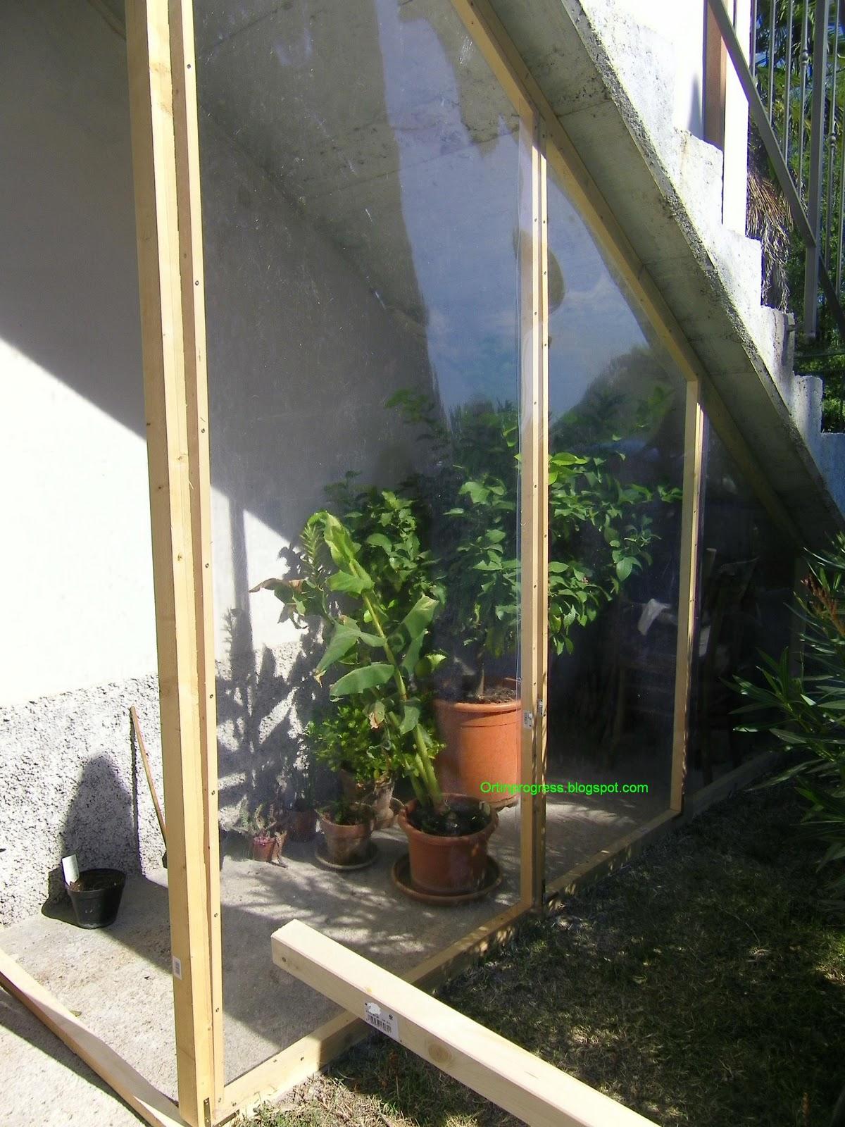 Orti in progress come costruire una serra nel sottoscala - Idee per costruire una casa ...