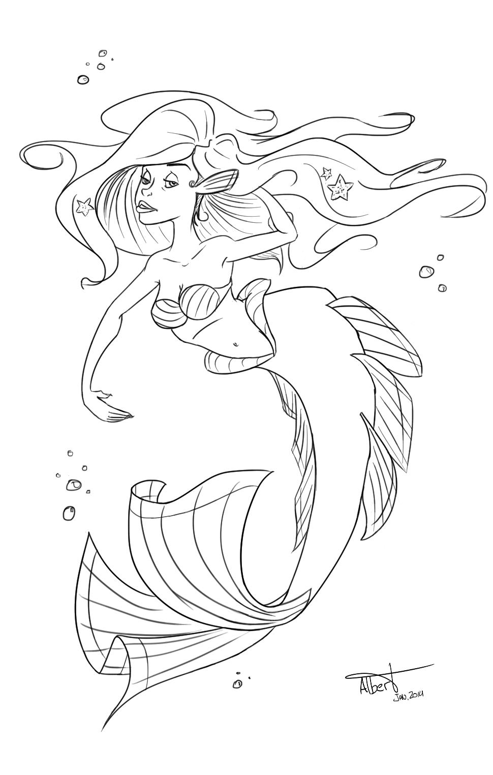 Mermaid - Albert Casado (nfok-e) - http://nfokedot.blogspot.com