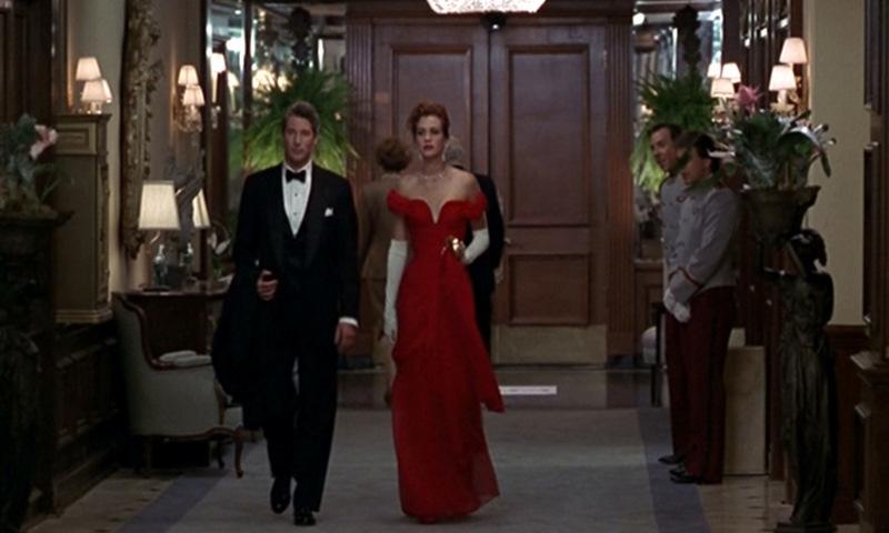 Vestido rojo mujer bonita julia roberts