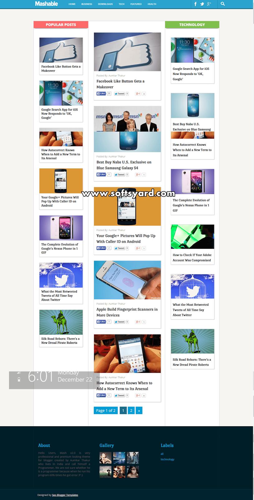 Dynamo multimedia premium blogger template