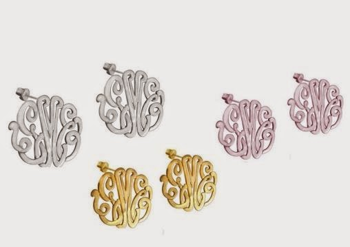 stocking stuffer monogrammed earrings