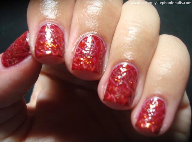 dragon scale nail art