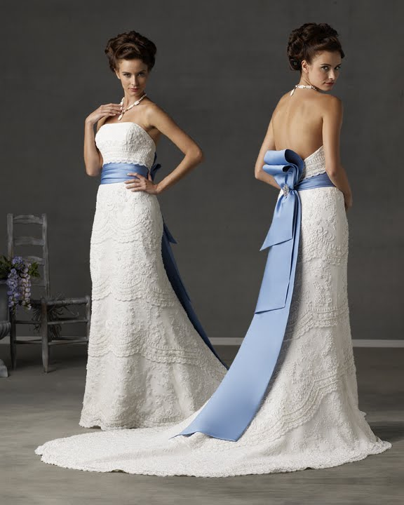 WhiteAzalea Elegant Dresses Beautiful Wedding Dresses with Blue
