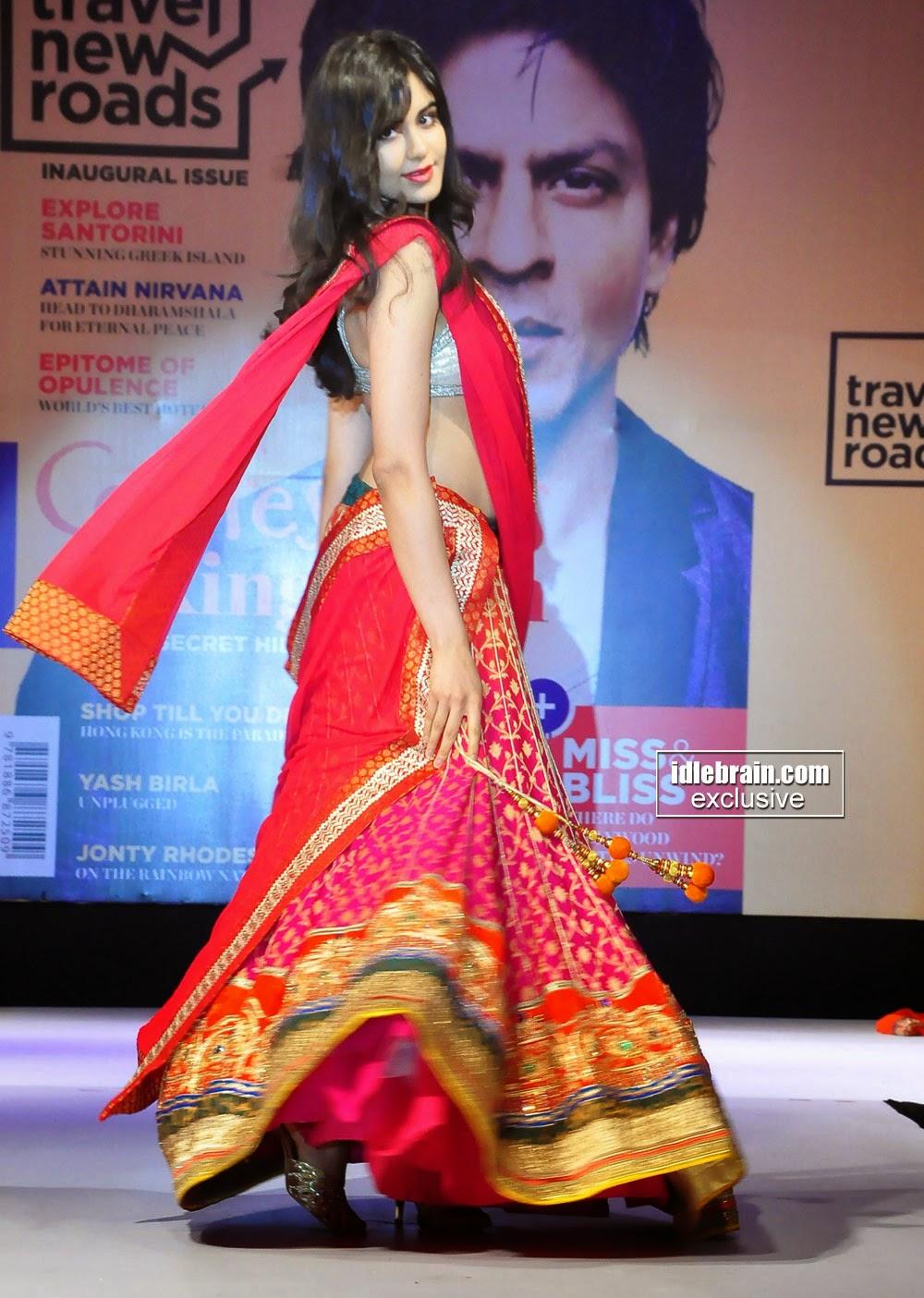 adah sharma bridal half saree