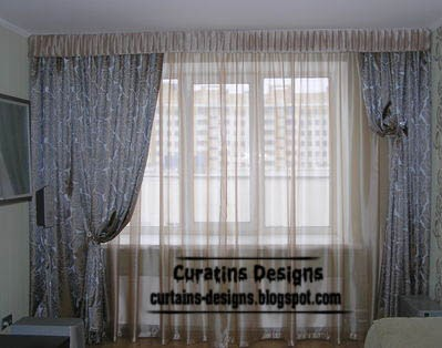 modern window treatments and curtain designs for living room