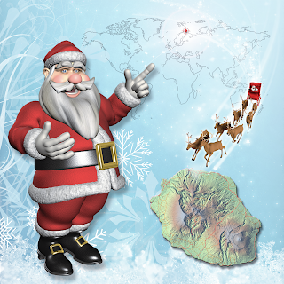 Le livre du Père Noël à la Réunion
