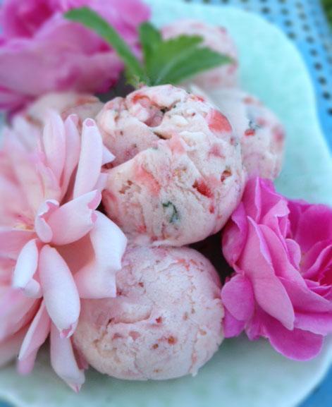 Rose Petal Ice Cream Recipe — Dishmaps