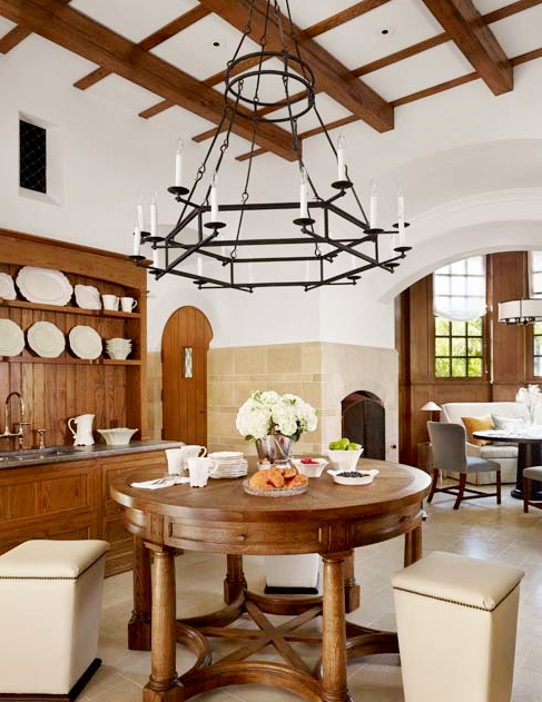 Exposed beams in a kitchen by Michael Imber