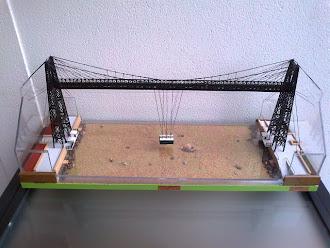 Puente colgante de Bilbao.