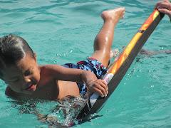 Alexandre on the bogie board
