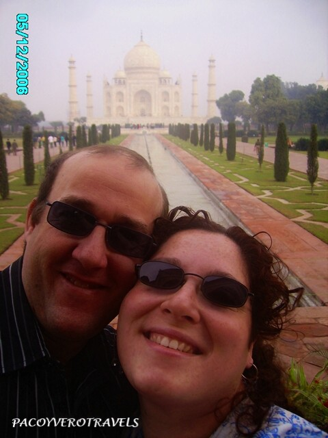 Selfie en el Taj Mahal