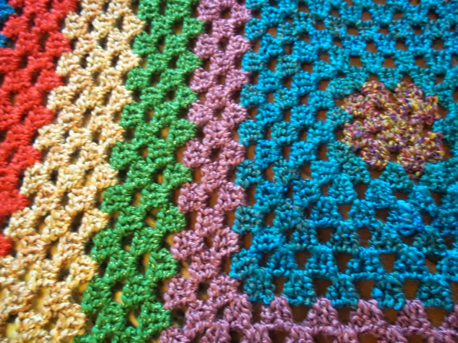 Free Crochet Granny Square Afghan : Eden is only a dream away: Crochet Granny Square Afghan