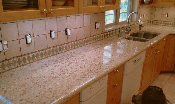 Granite Countertops Costco : They originally had a laminate counter top and when their granite was ...