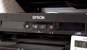 epson l210 blinking green light and ink and paper light