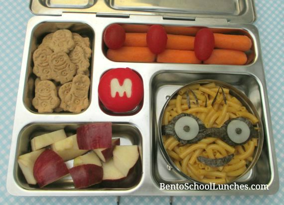 Minion pasta school lunch.