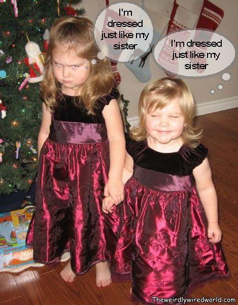 funny pictures - I'm dressed just like my sister