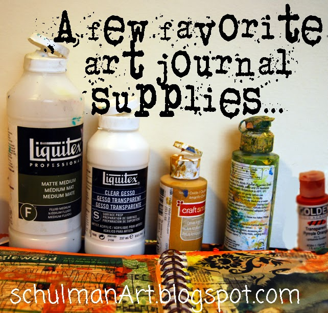 art journal supplies | mixed media supplies | discover more on http://schulmanart.blogspot.com/2014/08/art-journal-ideas-two-for-road.html