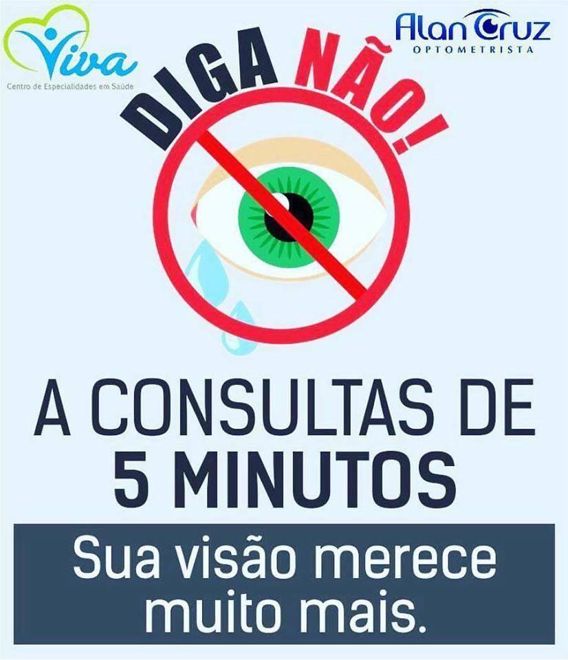 DIGA NÃO AS CONSULTAS DE 5 MINUTOS