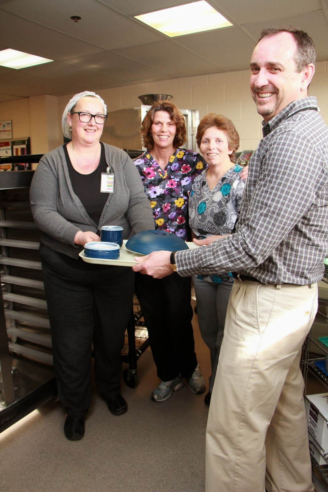 Hospital staff celebrate the food service improvements at South Muskoka Memorial Hospital Site