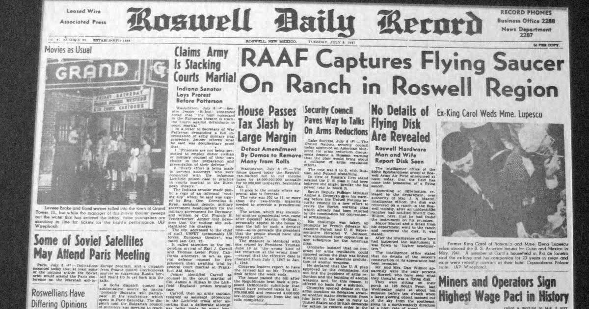 """a history of the roswell ufo sighting in 1947 Roswell ufo: 'alien grey photo smuggled out by serviceman' after 1947 flying saucer crash exclusive: """"i have obtained a photo of a grey it was given to me by my son's friend whose grandfather was in the service at roswell in the forties and smuggled out photos  roswell, new mexico is a mecca for ufo sightings since the 1947 flying saucer crash related articles."""