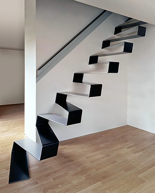 modern stairs designs minimalist straight staircase design without railing