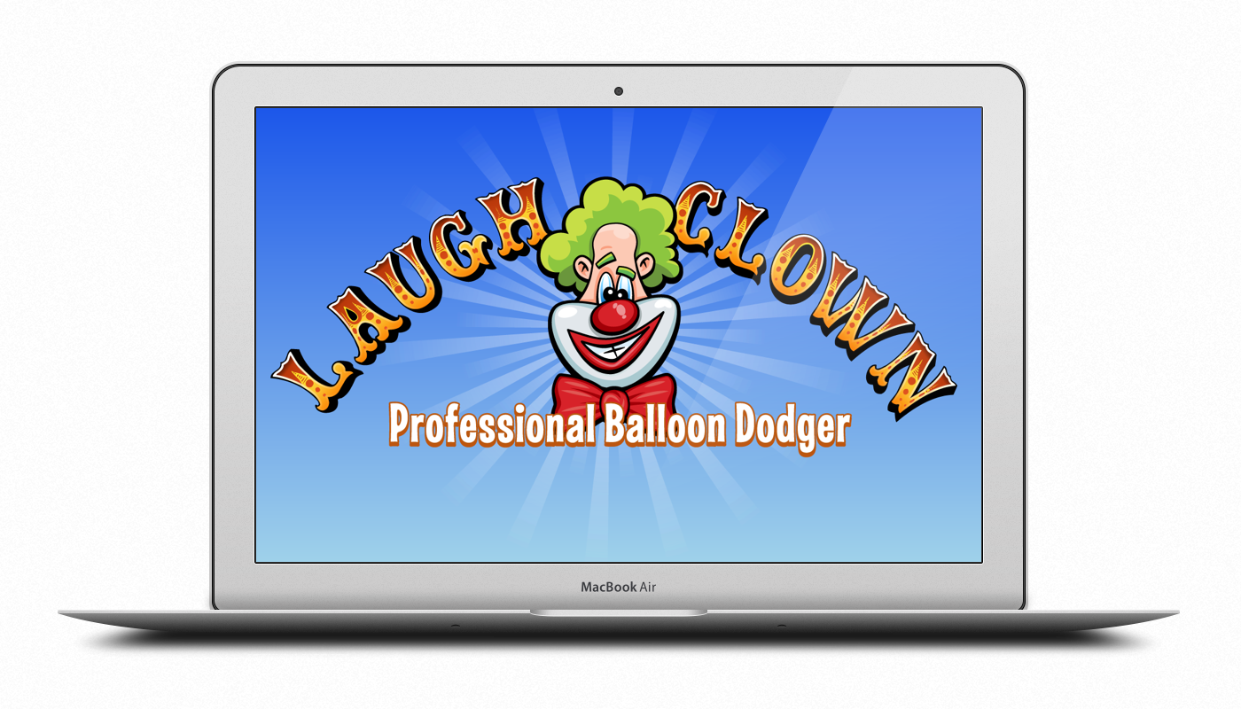 Laugh Clown Blue Desktop Wallpaper on Macbook Air