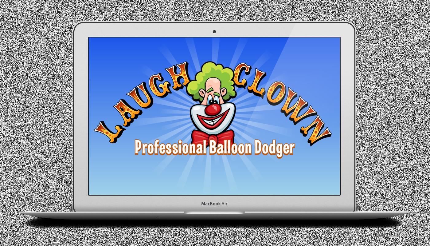 Laugh Clown Blue Desktop Wallpaper on Macbook Air