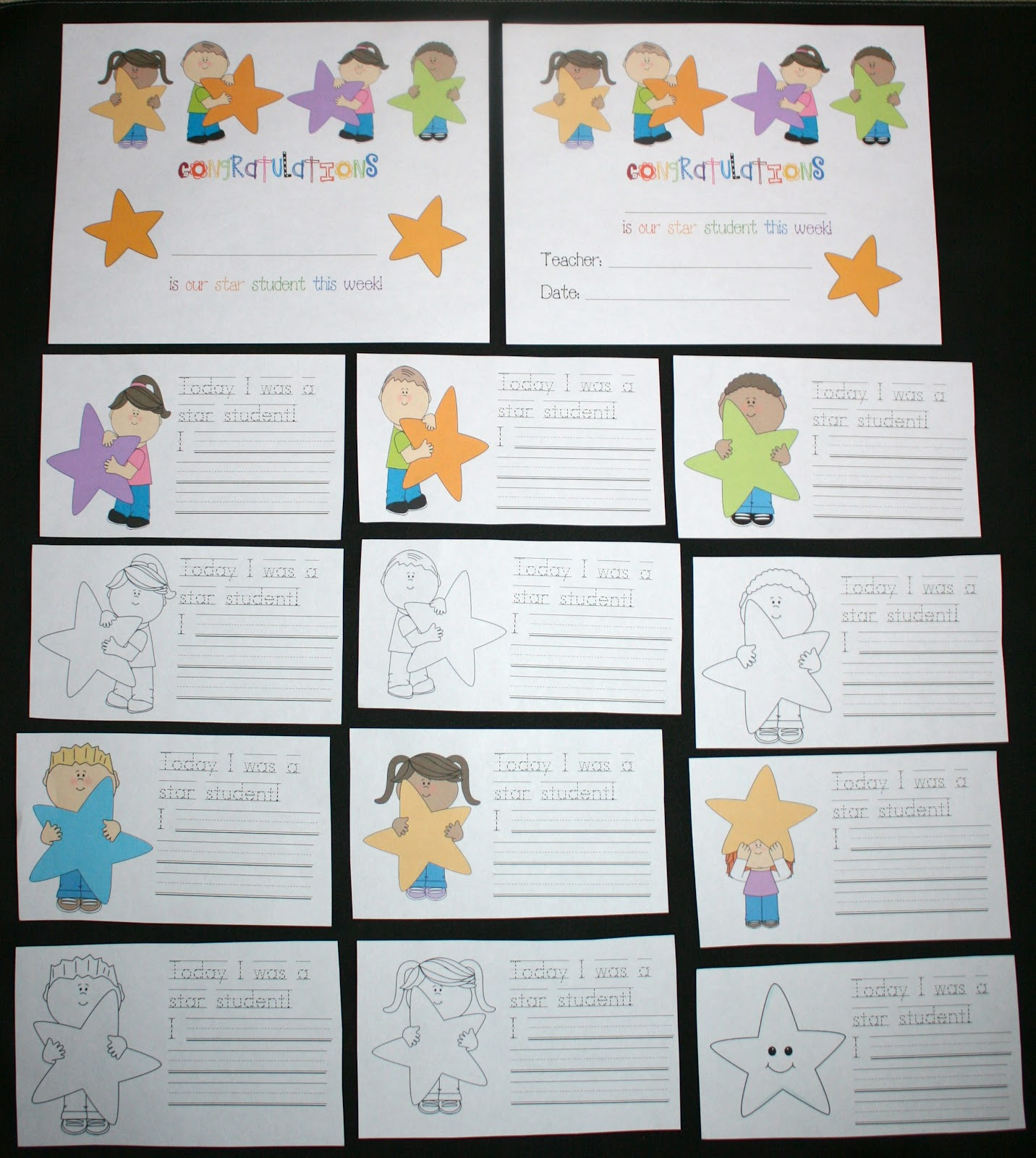 Star Student Certificates Classroom Freebies