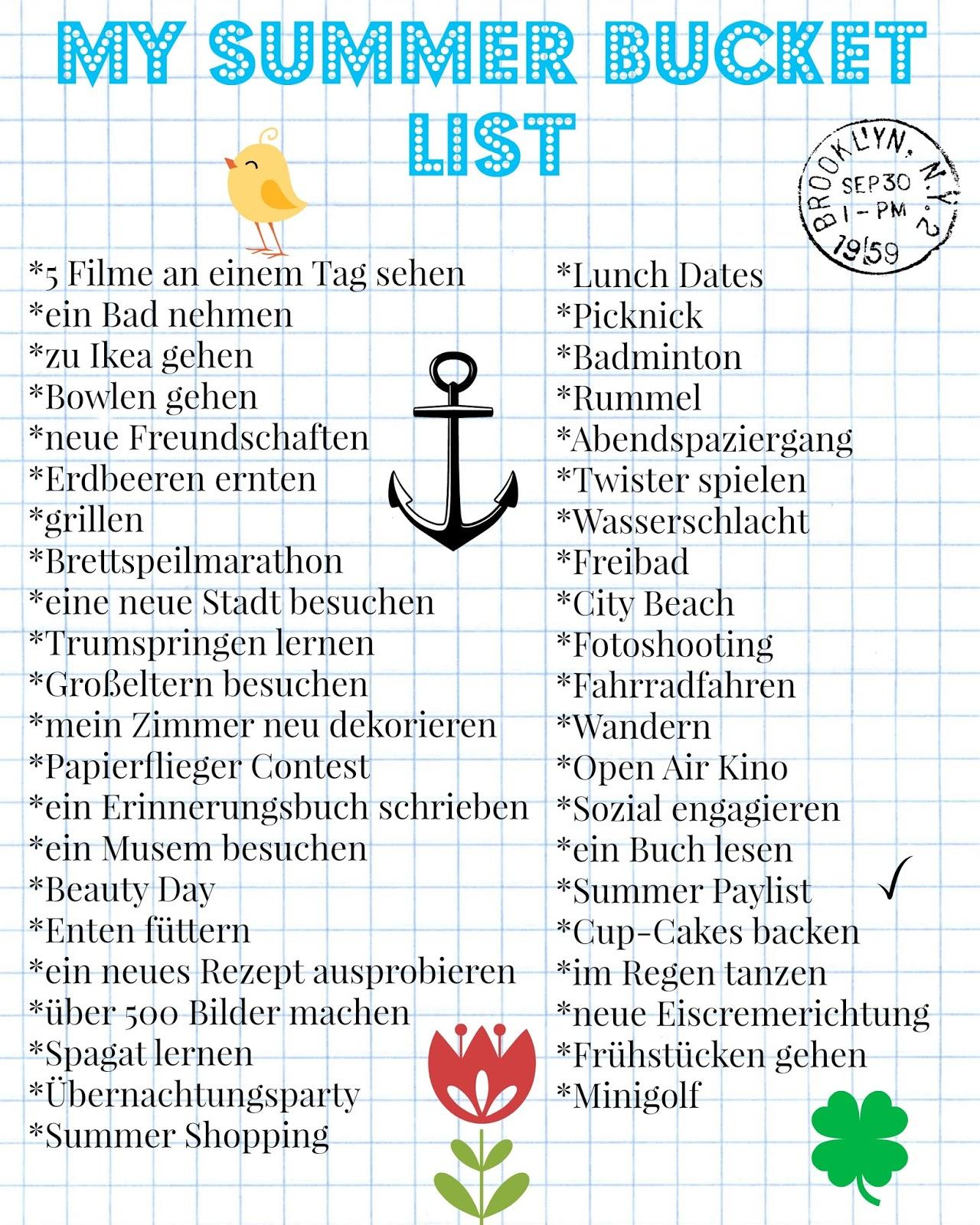 bucket list ideen gestaltung