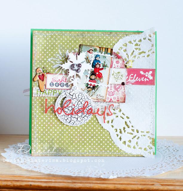 зимняя открытка своими руками happy holidays card