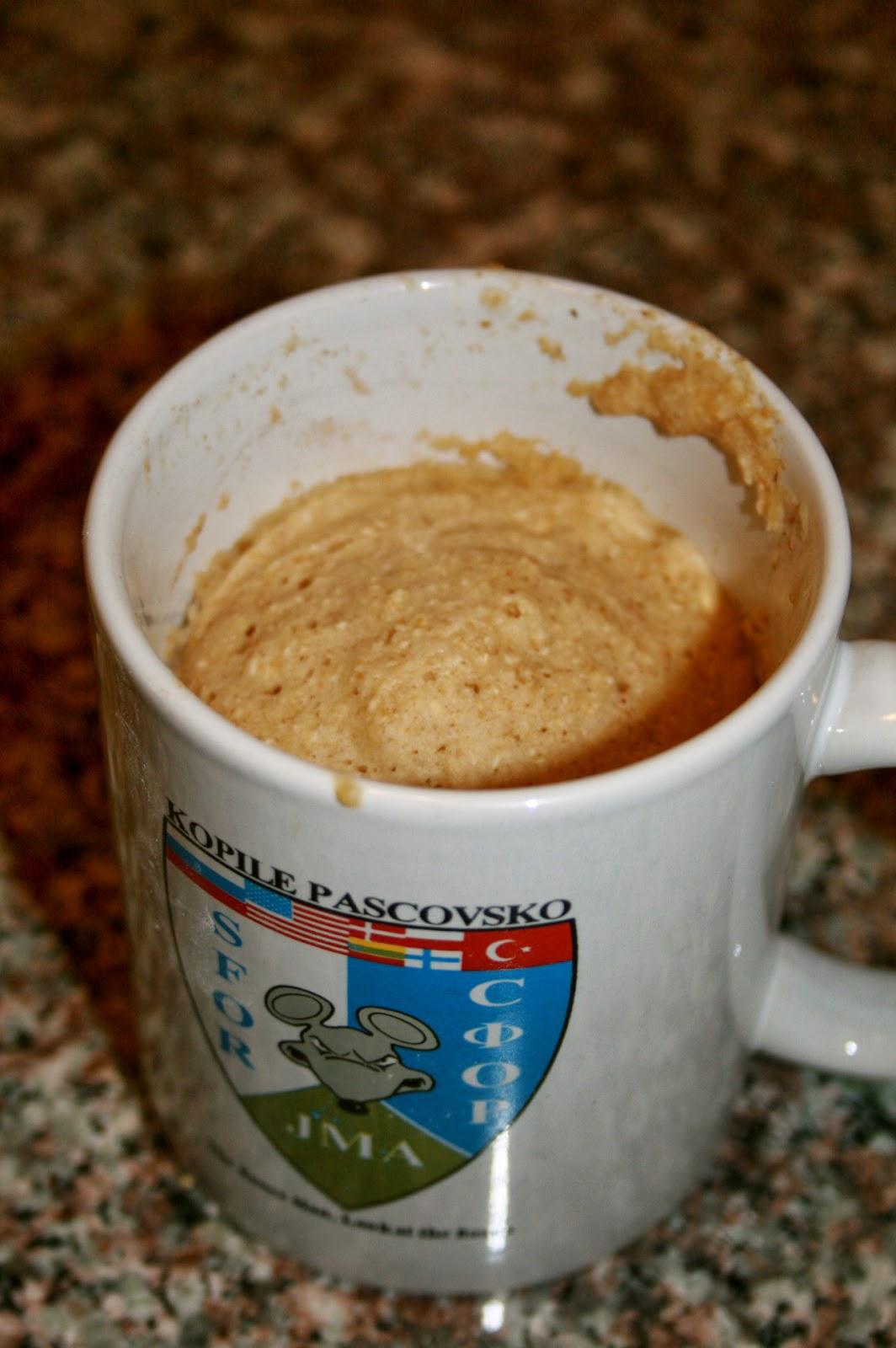 Oat Flour Microwave Cake