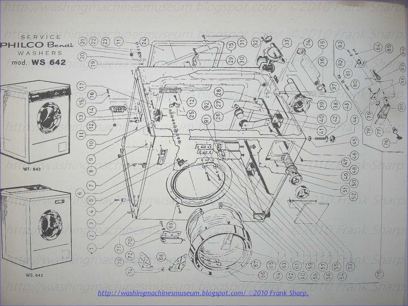 Philco Washer Motor Wiring Diagram Free Download Kenmore Washing Machine Rama Museum Bendix Ws642 Schematic