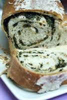 Pão de Espinafre (vegana)