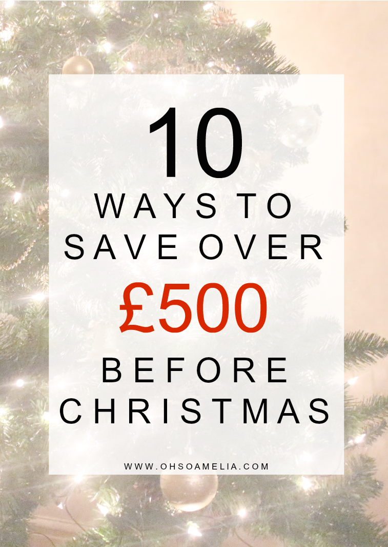 10 ways to save over £500 before Christmas
