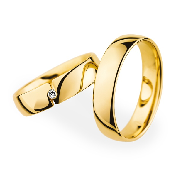 Memorable wedding the pretty gold wedding ring for Golden wedding rings