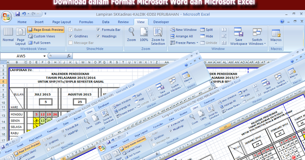 Kalender Pendidikan Tahun 2015 2016 Download Dalam Format Microsoft Word Dan Microsoft Excel