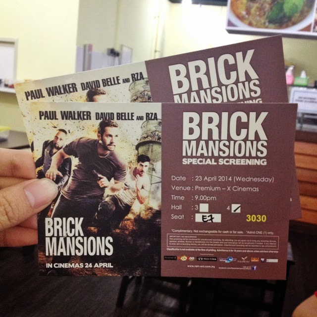 Brick Mansions premiere screening tickets