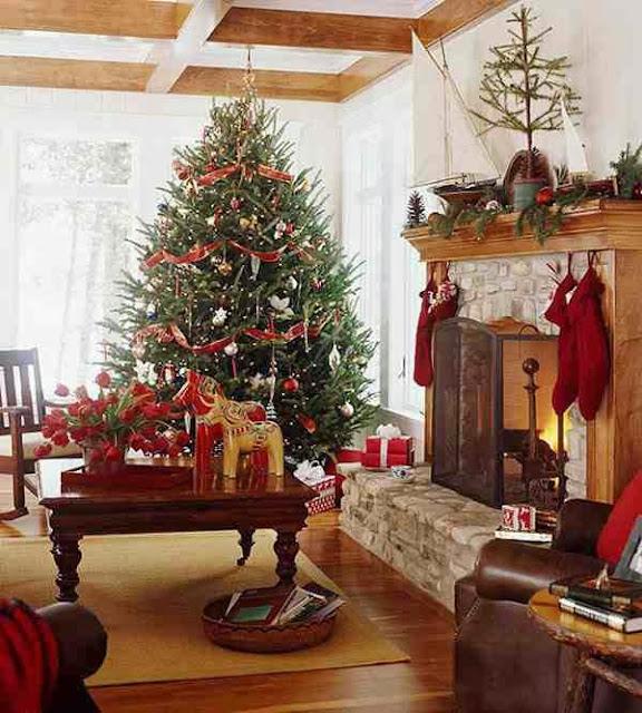 Choinka w świątecznej aranżacji