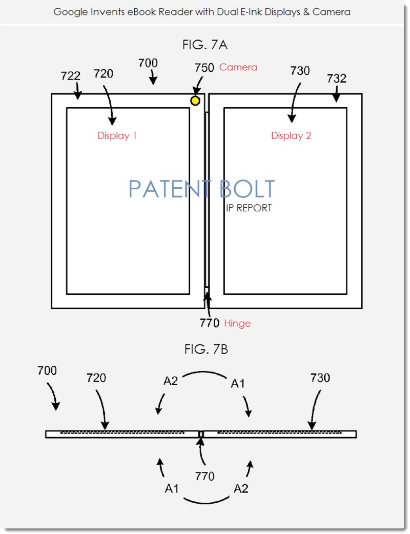 Google Invents eBook Reader with Dual E-Ink Displays