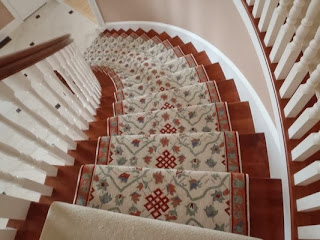 Carpet stair treads secure and decorates your stairs